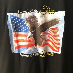 Land of the FREE Home of the BRAVE tshirt